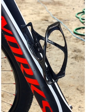 A single Specialized S-Works Carbon Rib Cage adorns the down tube