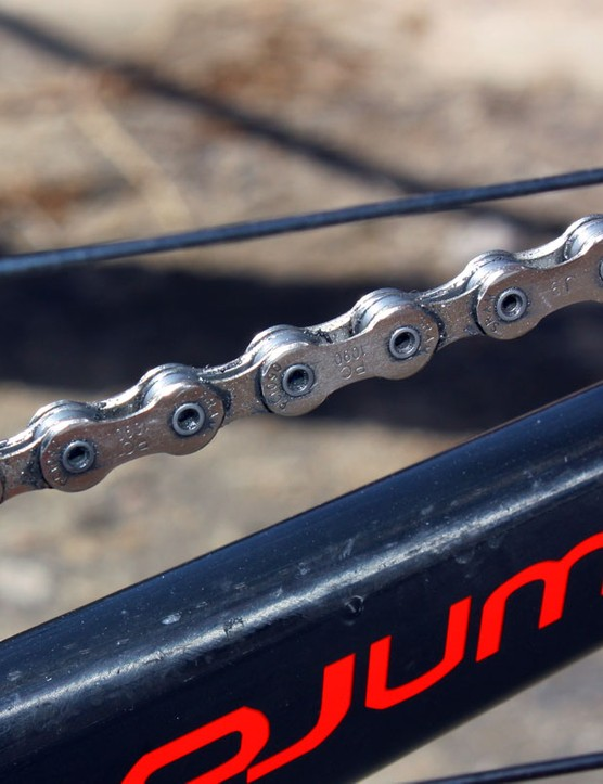 Burry Stander pairs his SRAM XX drivetrain with a PC 1090 chain