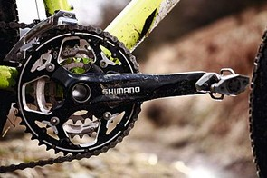 The non-groupset Shimano crankset is on a par with Deore