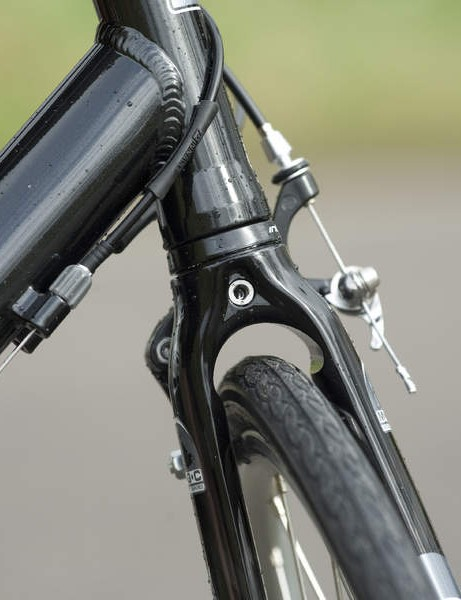 A mudguard can be easily fitted at the front, although we had concerns with the rear