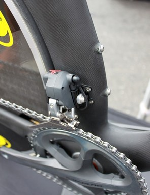 Garmin-Transitions uses Shimano's Dura-Ace Di2 group on its team DA bikes and Felt will spec the electronic group on the 2011 production models.