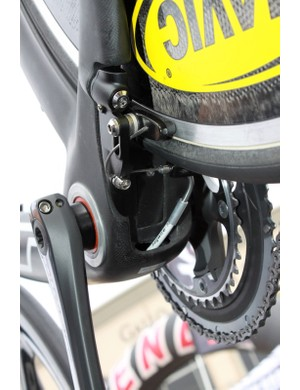 A better look at the bike's proprietary V-style brake.