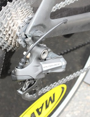 Shimano's Di2 is standard for both the Garmin-Transitions team and 2011 production models.