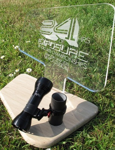 The trophy for the UK Solo mountain bike championship