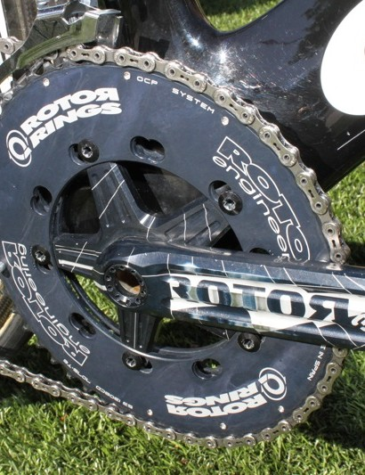 The shaping on the new Pro Q rings is quite subtle, but said to still give advantage to a rider's power stroke.