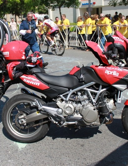 SRAM's Neutral Race Support team added two Aprilia motorcycles to their armoury this spring