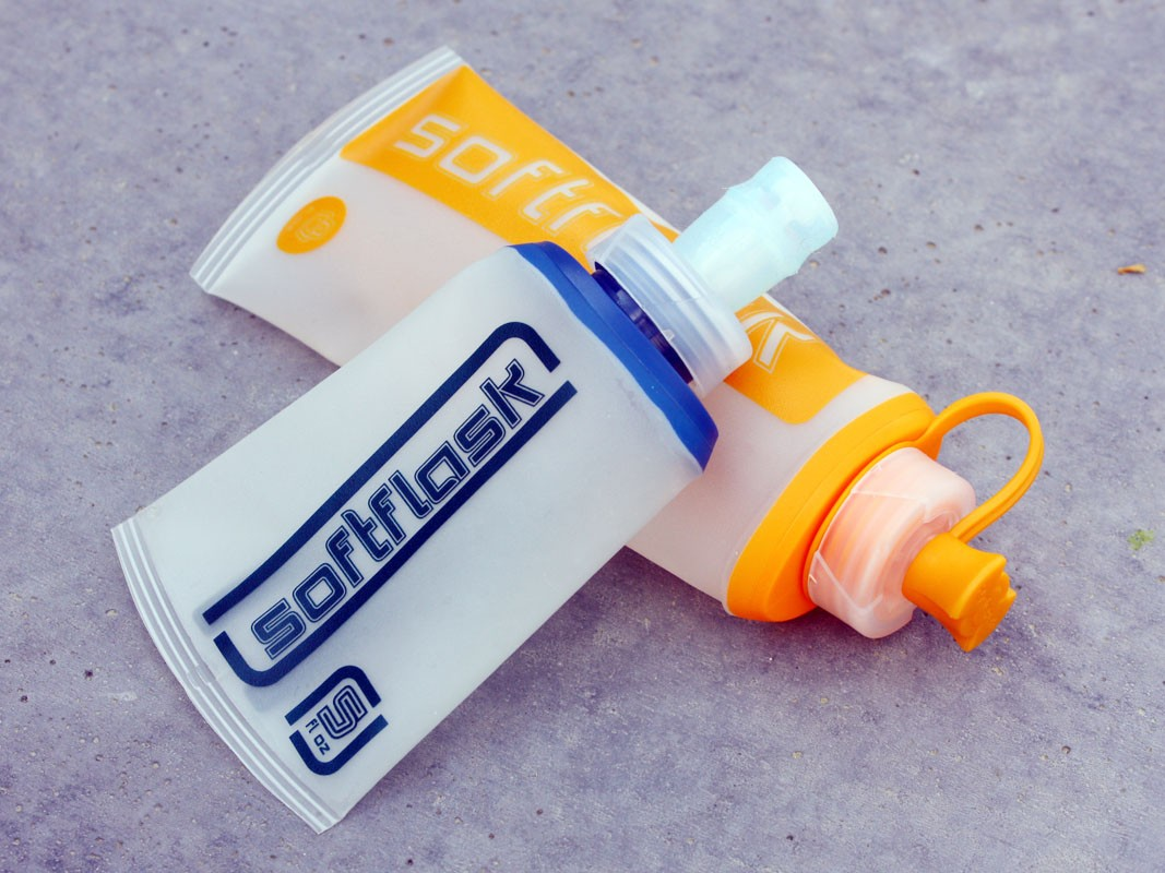 The Hydrapak Softflask is designed to hold several packets worth of gel in a single handy container