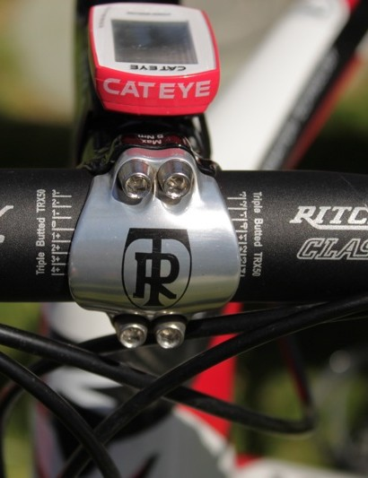 Sutherland prefers Ritchey's 'old school' Classic bar bend.