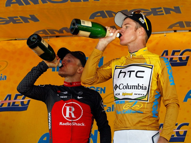 Champagne is a great celebratory drink, but it's not ideal for keeping cyclists hydrated!