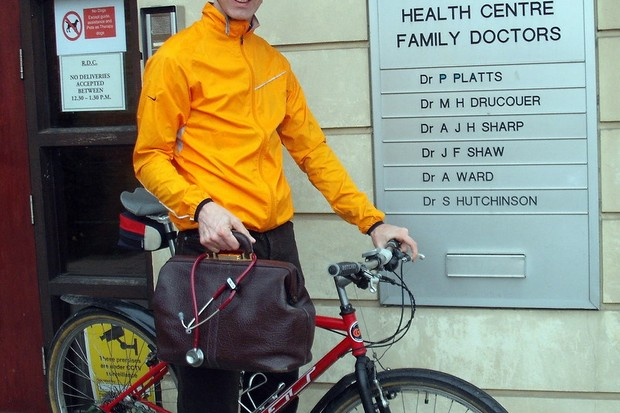 Nice bike Andy, but where are you going to put your doctor's bag?