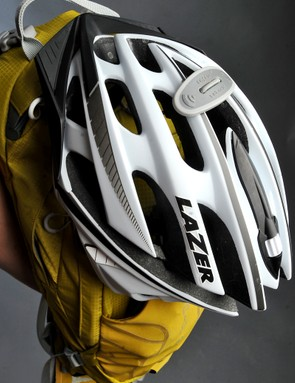 The brilliant LidLock helmet holder is simple and effective when in use and totally unobtrusive otherwise