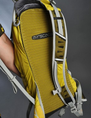 The Airscape ventilate back panel is very effective and also semi-rigid to prevent barreling, even when the pack is heavily loaded