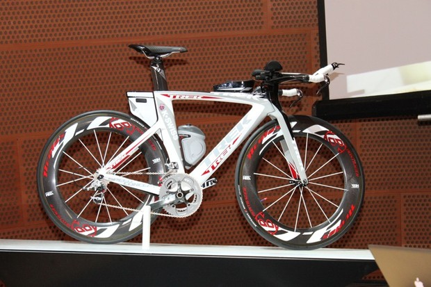 Trek launched their Speed Concept time trial and triathlon bike for sale at this year's Tour of California