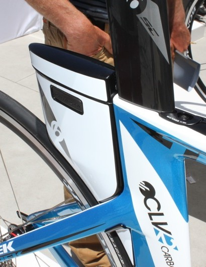 The DraftBox affords extra speed, but also a place for tube, multi-tool and CO2