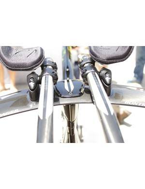 The bar extensions are supremely adjustable in both reach and height, but the base bar stays in a fixed position