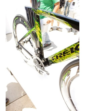 A look at the Kammtail down tube from the front