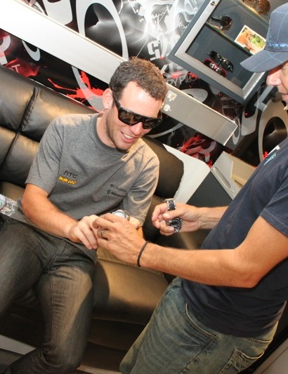 Cavendish admires his new watch