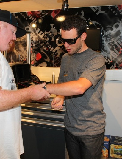 Cav gets the titanium band on his new watch fitted