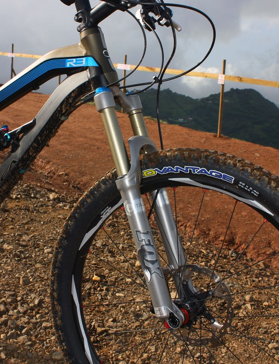 Orbea offer the Rallon with 150mm or 160mm-travel forks, allowing riders to tune the handling characteristics to their preferences
