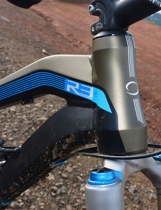 The tapered head tube is backed by a heavily shaped top tube and down tube for impressive strength, according to Orbea