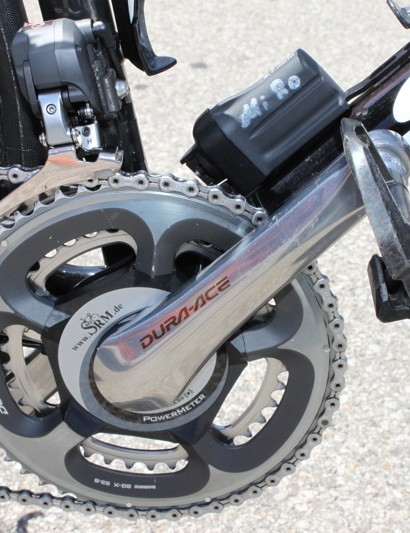 SRM manufactures a spider that perfectly matches the Dura-Ace 7900 large chainring.