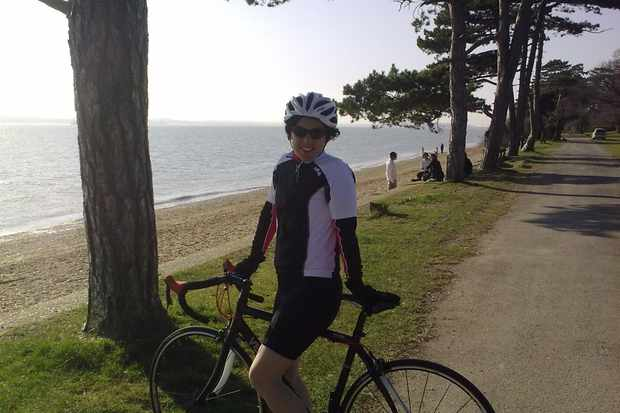Kay hits her record of 34mph on her Verenti Millook