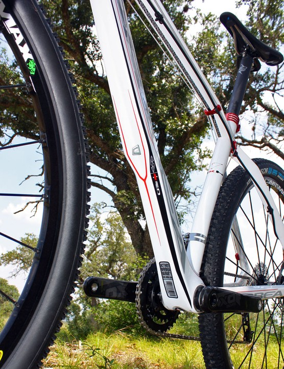 Orbea have retained the Alma's trademark down tube shaping with its integrated mini-fender