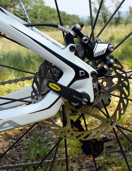 Orbea say the extra kink in the chainstay helps soften the rear end