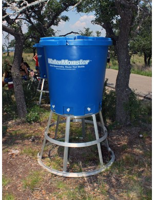 These giant blue tubs were scattered around the start area. Each 'Water Monster' holds 475L (125 gallons) of fluid accessible from six self-serve outlets and can be refilled via the standard hose hook-up