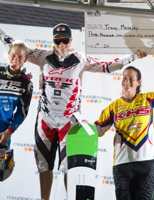 Brit Tracy Moseley topped the elite women's podium