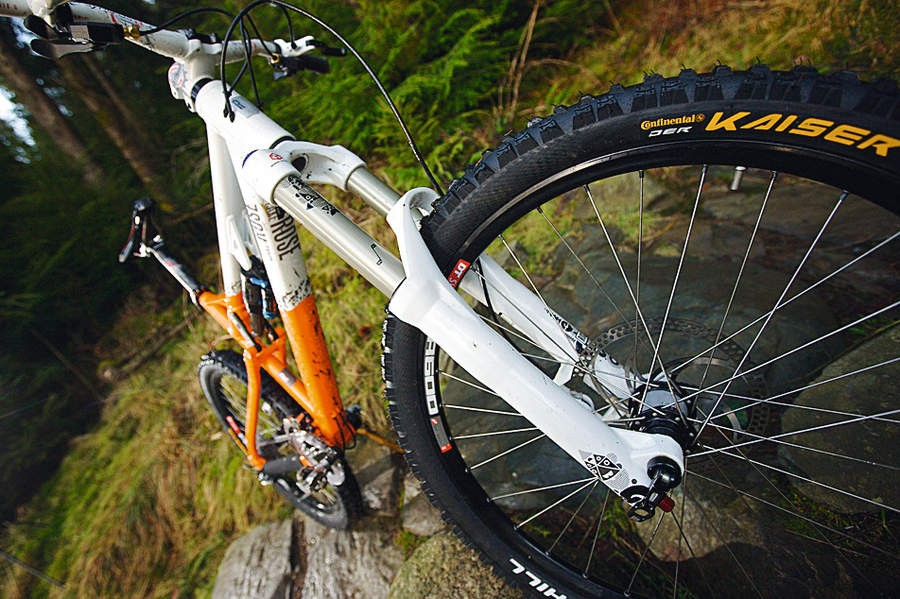 The RockShox Totem Air fork takes a bit of bedding in