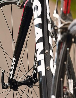The carbon/alloy fork rides OK, but it's an obvious eventual upgrade
