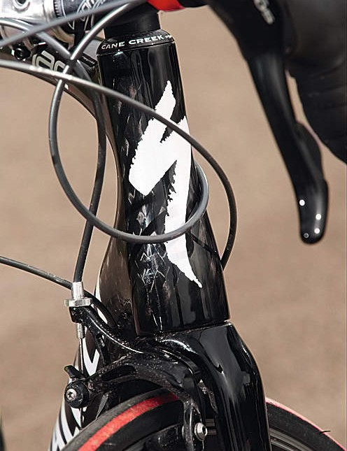 The oversized head tube makes the Tarmac a lot more accurate up front