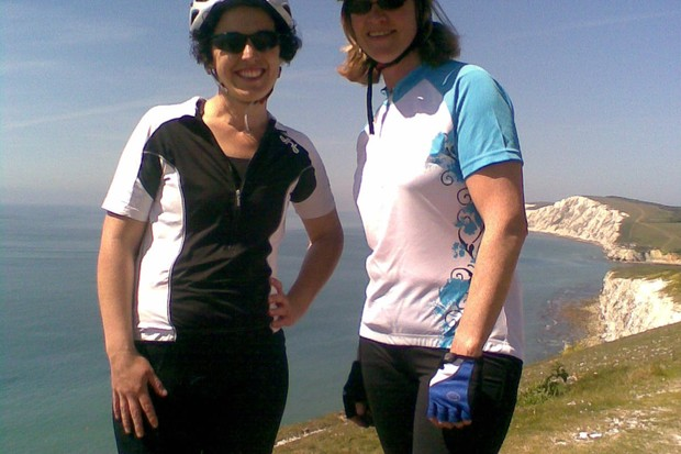 Kay and friend in the Isle of Wight