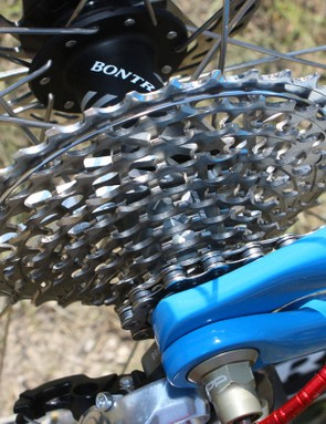 An 11-36T SRAM XX cassette is fitted to the Bontrager rear hub.