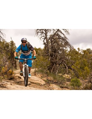 Wildhaber rode his Scratch freeride bike on all of the RockShox launch rides, it didn't matter that most were cross-country and upwards of three hours.