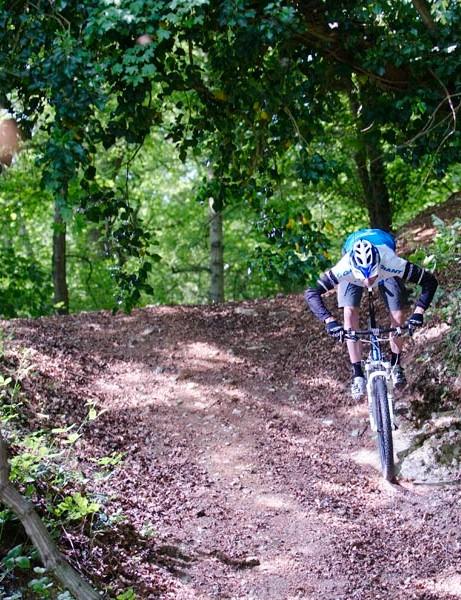 Riding the mountain bike loop