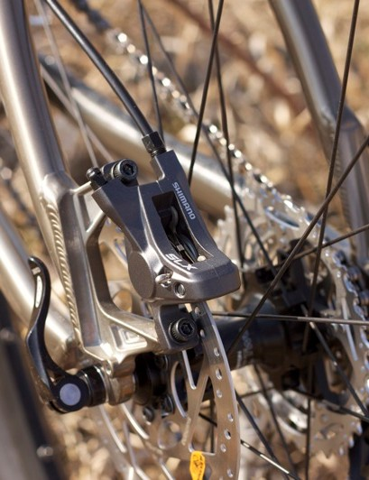 Shimano's SLX brakes slowed the King Kahuna's wheels quickly and easily