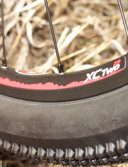 The Easton XC Two wheelset proved plenty strong, but it presented a challenge to convert to tubeless