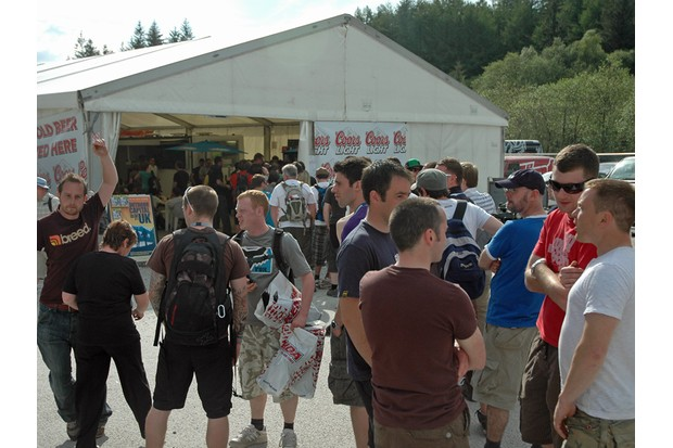 The queue for the beer tent was a little ridiculous at times