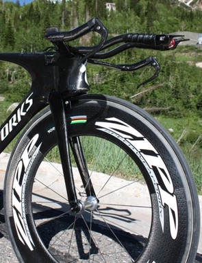 Specialized's original rendition of the Shiv time trial bike, deemed illegal.