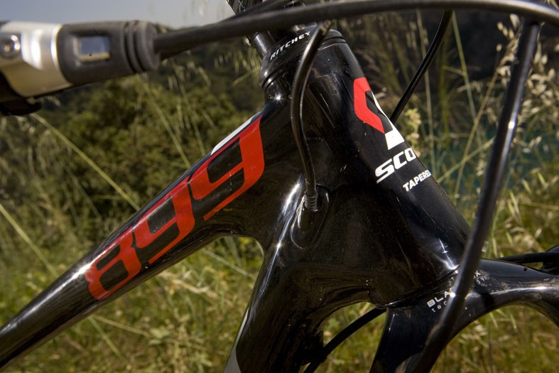 The new Scale gets a tapered head tube and a 100mm-travel fork