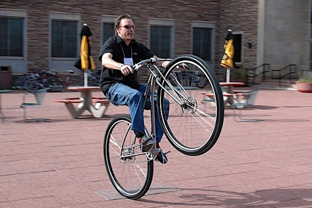 James Bleakley of Black Sheep Bicycles at the 2009 RMB Festival.