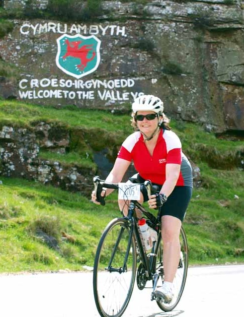 Some riders were still smiling after climbing the Bwlch for a second time.
