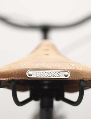 Brooks saddles are used on many of the Creme bikes, including this Cafe Racer Men's Doppio