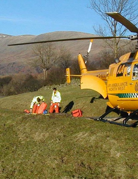 Money raised by the RUSS Appeal will help fund the lifesaving work of Britain's Air Ambulance services