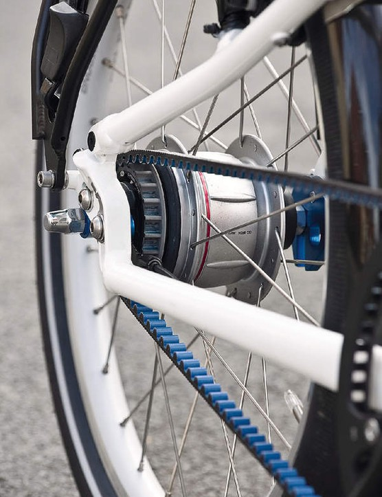 Gates unique Carbon Drive System, meaning messy oily chains are traded for a super strong polyurethane belt