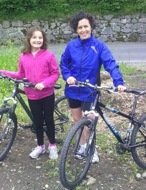 Kay and daughter Hannah go for a 28mile ride