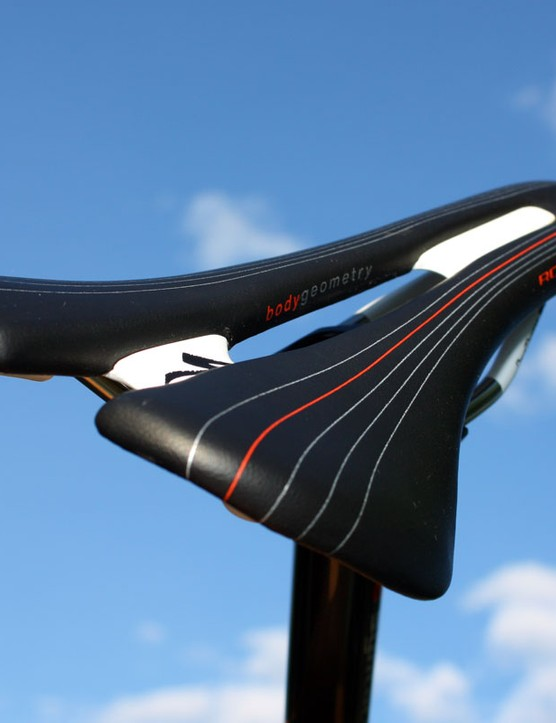 The generously proportioned channel runs the full length of the saddle