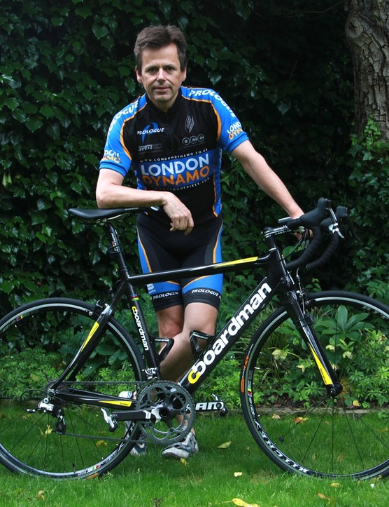 Nigel Smith and the Boardman he'll be using for the RAB